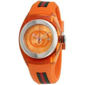 Gucci orange silicone strap unisex Authentic